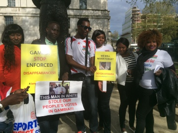 Protesters at 10 Downing Street