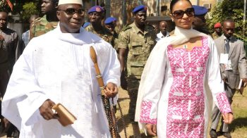 Dictator Yahya Jammeh and his Gold Digger Wife Zinab Suma