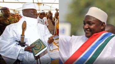 Gambia's President Adama Barrow and his predecessor Dictator Yahya Jammeh